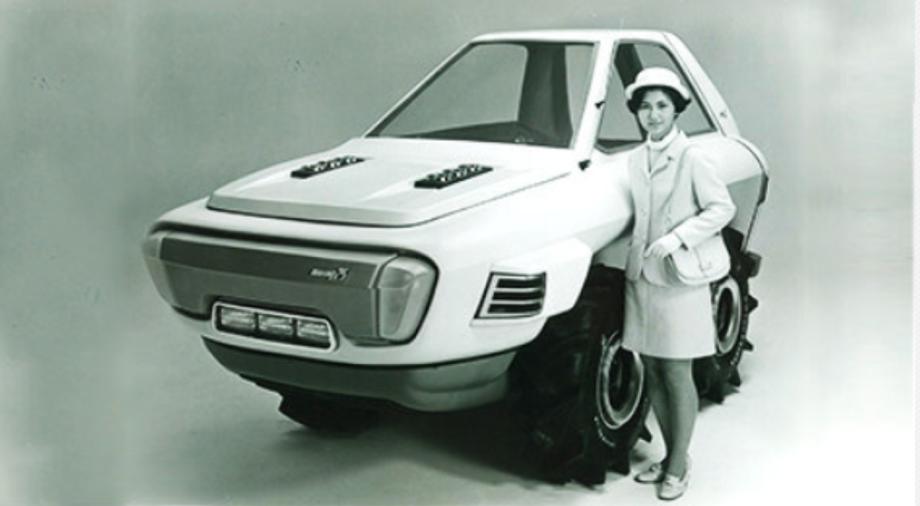 """Bereits 1970 präsentiert Kubota den ersten """"Dream-Tractor"""". Das futuristische Aussehen hat sich nicht durchgesetzt, doch viele Technologien finden heute Anwendung in Traktoren weltweit."""